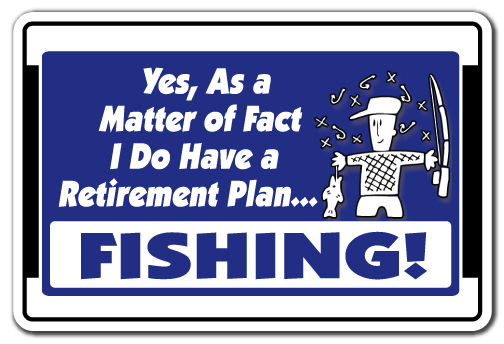 "Yes I Do Have A Retirement Plan Fishing! [3 Pack] of Vinyl Decal Stickers | 3.3"" X 5"" 