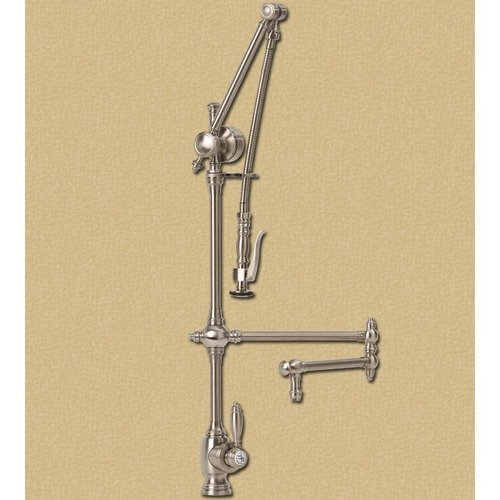 Waterstone Towson Gantry 12'' Articulated Kitchen Faucet with Pre-Rinse Spray - Walmart.com