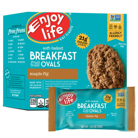 Enjoy Life Foods Gluten Free, Allergy Friendly Maple Fig Breakfast Ovals, 8.8 oz
