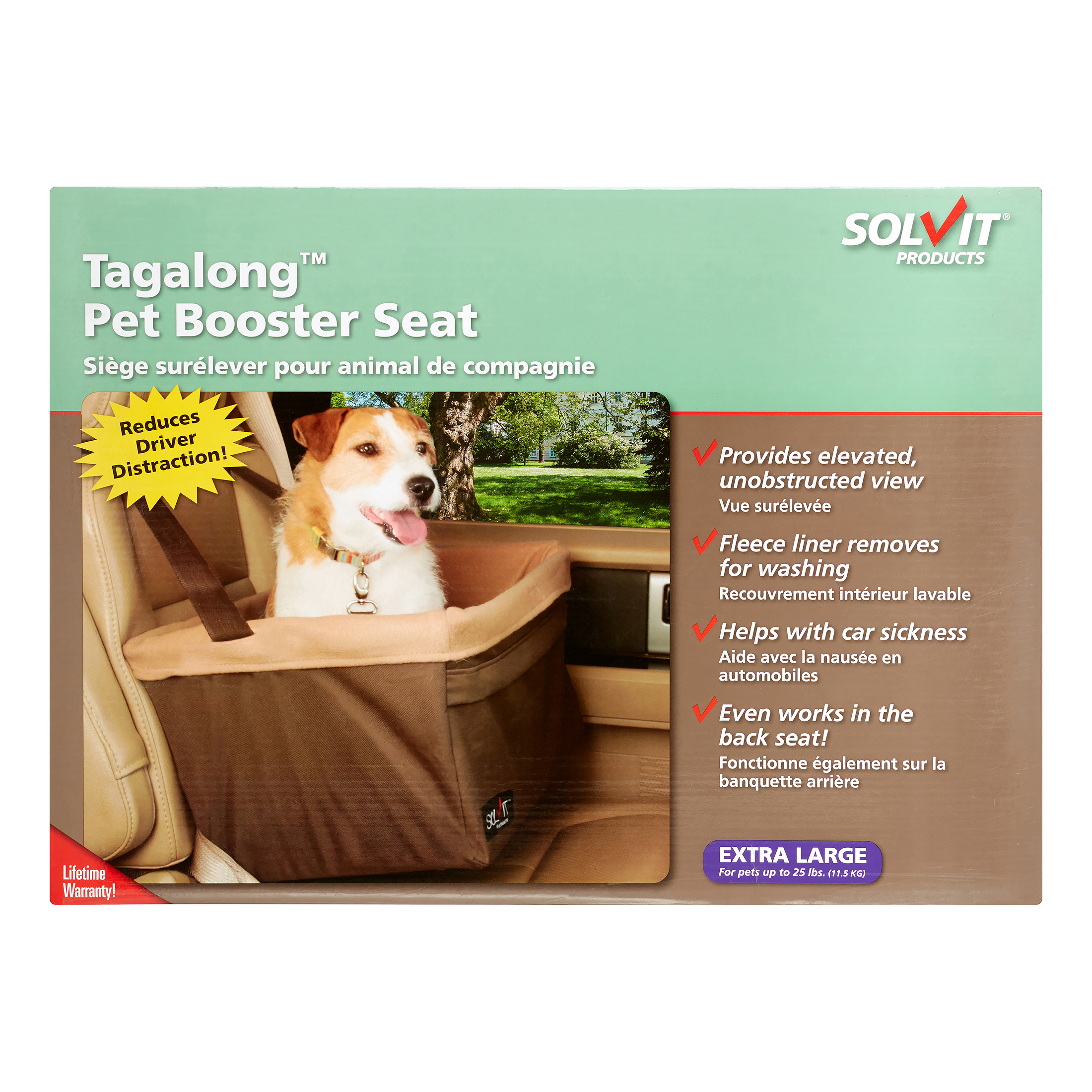 Solvit Tagalong Standard Booster Pet Car Seat