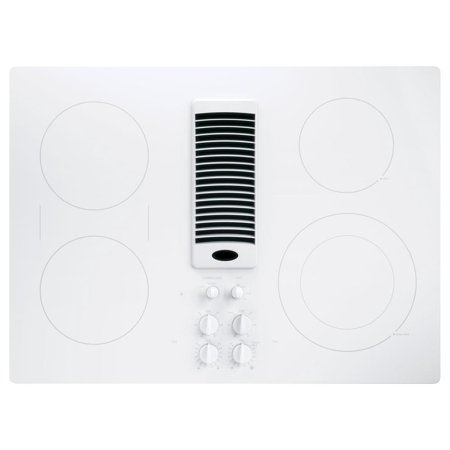 Pp9830tjww 30 Downdraft Electric Cooktop With 4 Radiant