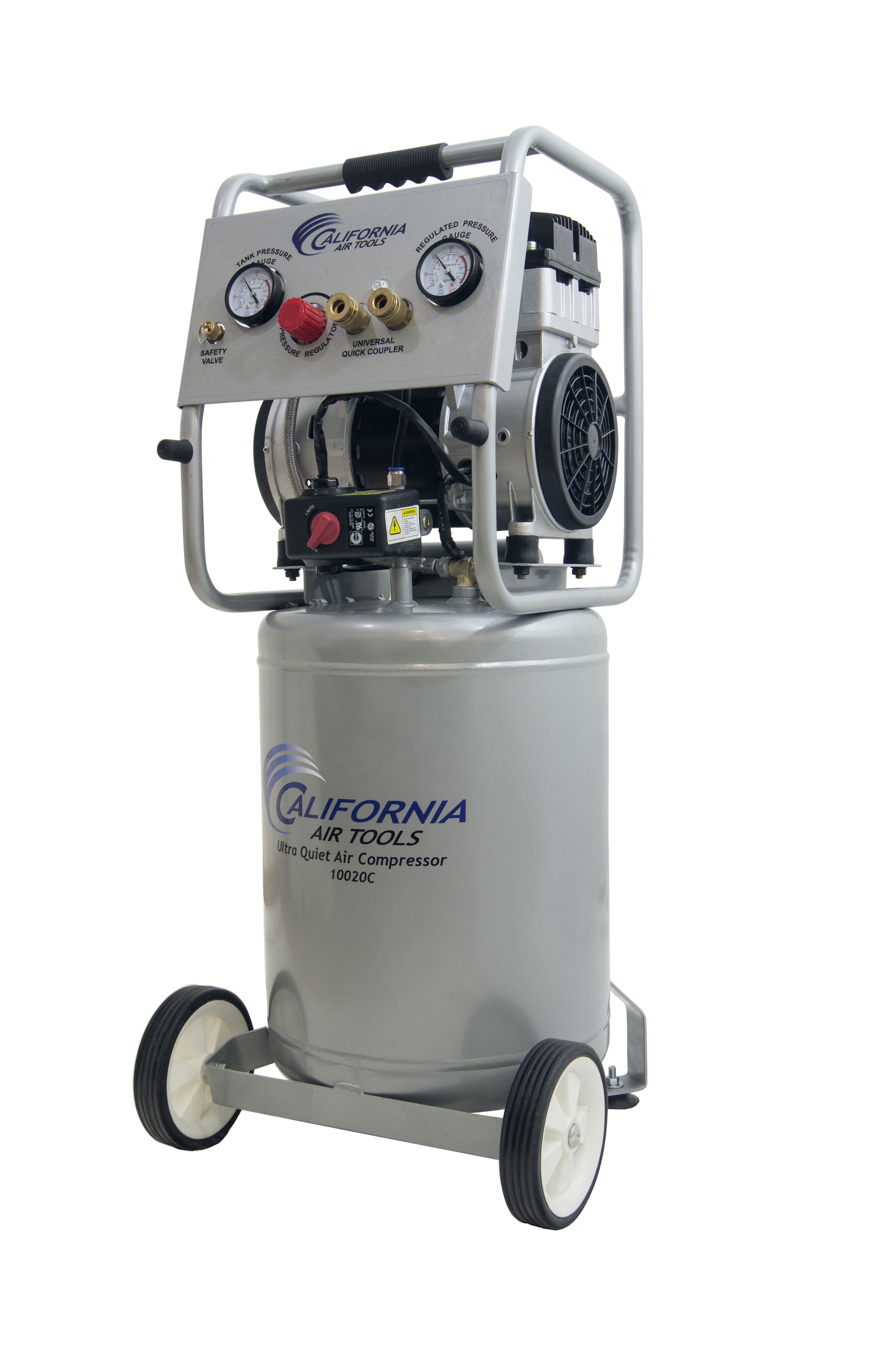 California Air Tools 10020CAD-22060 Ultra Quiet & Oil-Free 2.0 Hp, 10.0 Gal. Steel Tank Air Compressor with... by California Air Tools