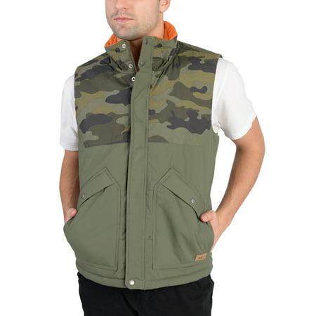 Adidas Mens Camo Padded Jacket Vest Army Green (Adidas Green)