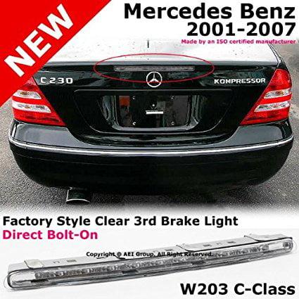 2001 to 2007 Mercedes Benz W203 C230 C240 C280 C320 C350 01-07 Third Stop  Brake Light Clear