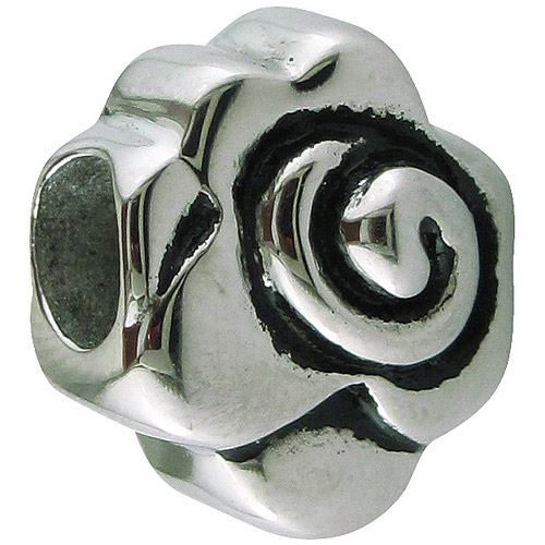 Connections from Hallmark Stainless-Steel Rose Charm