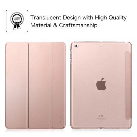 Etui Fintie pour iPad mini 3 / iPad mini 2 / iPad mini - Coque transparente translucide givrée, Or rose - image 1 de 7