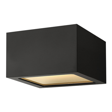 Outdoor Wall Sconces 1 Light With Satin Black Etched Lens Extruded Aluminum 6 inch 8 Watts