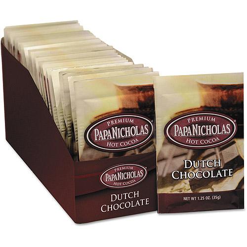 PapaNicholas Dutch Chocolate Premium Hot Cocoa Mix, 1.25 oz, 24 count