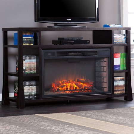 Wildon Home Walker Media 55 39 39 Tv Stand With Fireplace