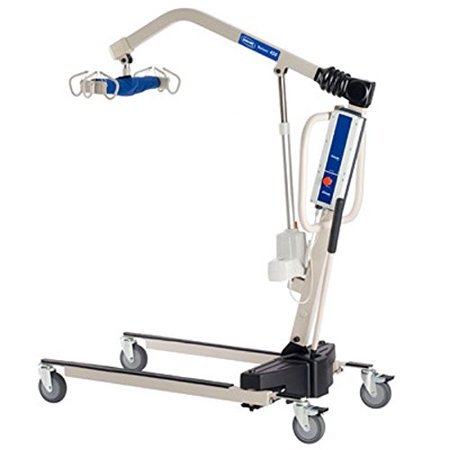 Invacare Power Body Patient Lift  Reliant 450 Battery-Powered Lift with Low Base - RPL4501 With Invacare Heavy Duty Transfer Bench - 9670U Bundle