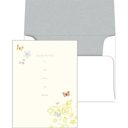 Gartner Studios Butterfly Invitations, 10 count