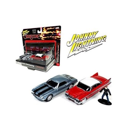 1967 Plymouth Fury Convertible - New 1:64 JOHNNY LIGHTNING DIARAMA COLLECTION - 1958 PLYMOUTH FURY & 1967 CHEVY CAMARO Set of 2pcs Diecast Model Car By Scale: 1:64 DieCast Metal.., By Auto World