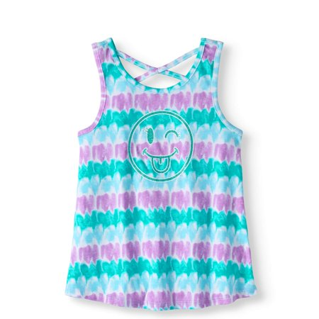 9e889624132ae Girls' Tie-Dye Cross Back Tank Top