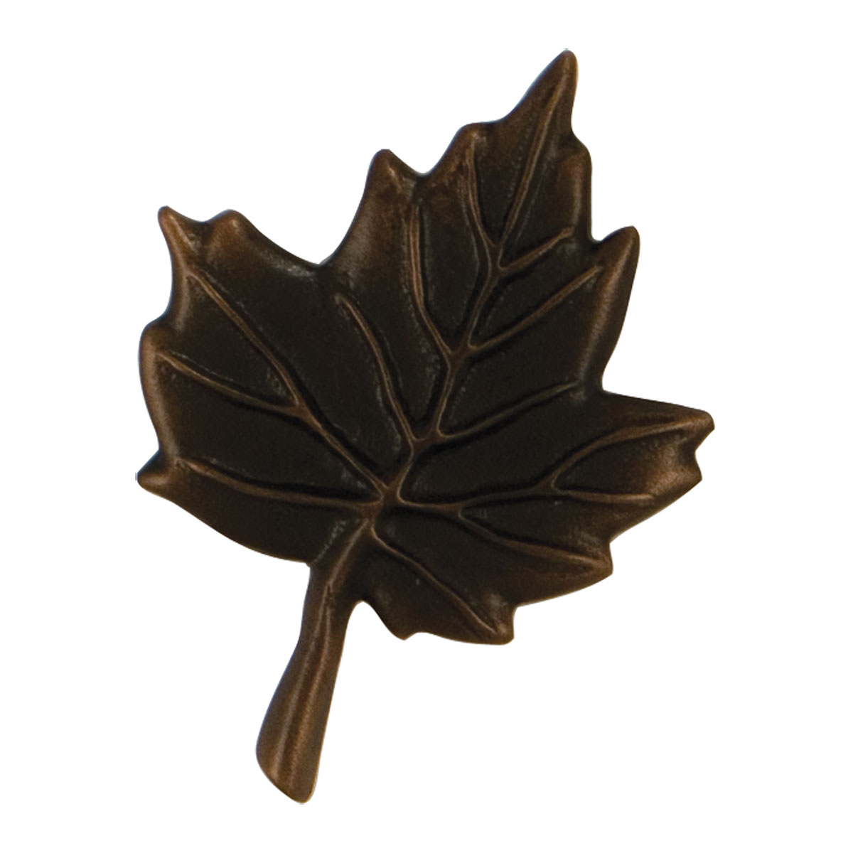 "2 3/4""W x 3 1/2""H Michael Healy Maple Leaf Doorbell Ringer, Oiled Bronze"