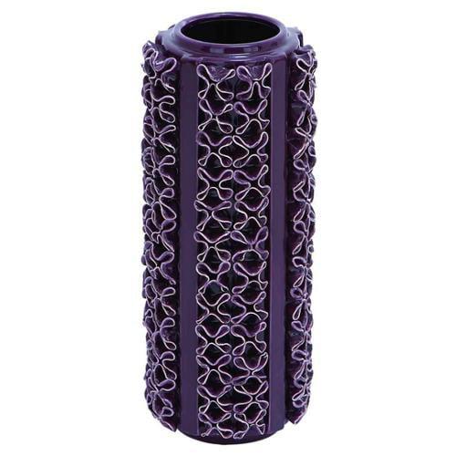 Benzara 71756 Vase, Beautiful Purple Color and Glossy Finish