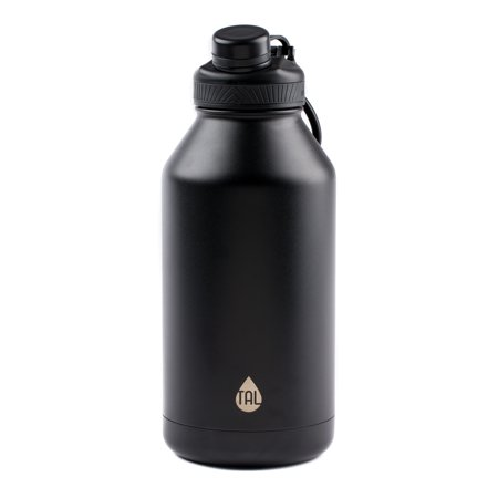 Tal 64 Ounce Double Wall Vacuum Insulated Stainless Steel Ranger Pro Black Water Bottle
