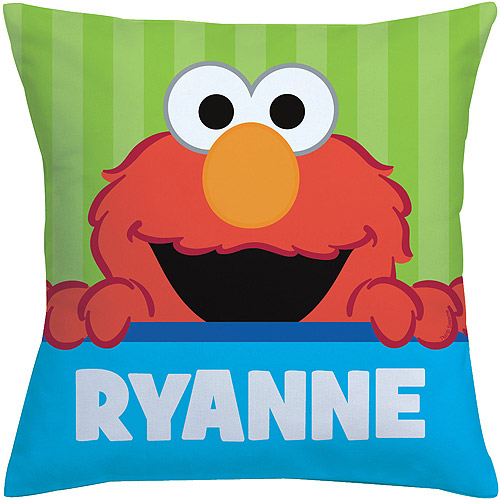 Personalized Sesame Street Peek-A-Boo Elmo Throw Pillow
