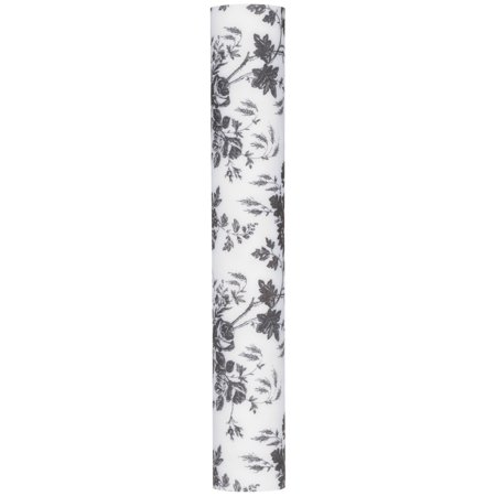 Con Tact 174 Luxury Black Toile Fabric Top Drawer Liner