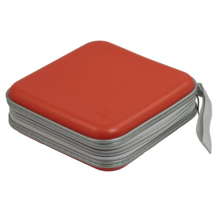 Zipper Closure 40 Pcs CD Discs Square Storage Holder