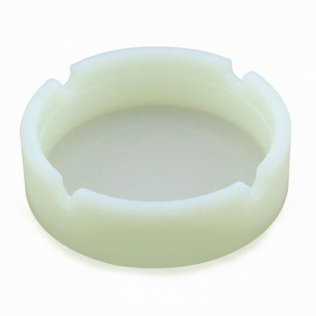 Portable Silicone Rubber Ashtray Soft Round Ecological Smoke Holder Batch Camouflage Luminous Fluorescent Ashtray