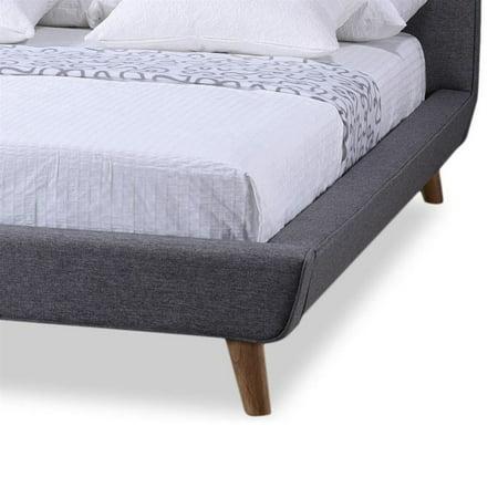 Jonesy Upholstered Full Platform Bed in Gray - image 2 de 4