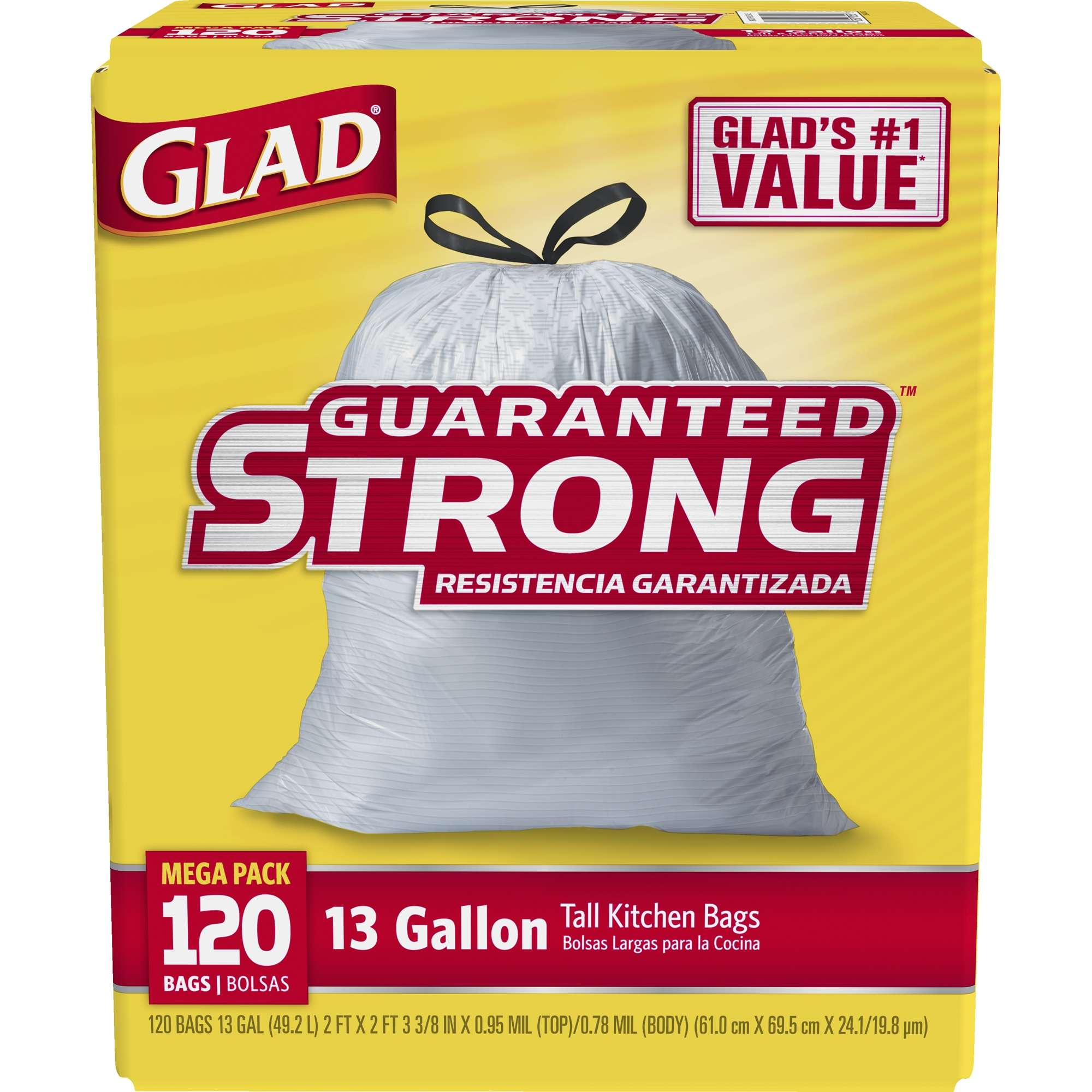 Glad Tall Kitchen Drawstring Trash Bags, 13 Gallon, Choose Your ...