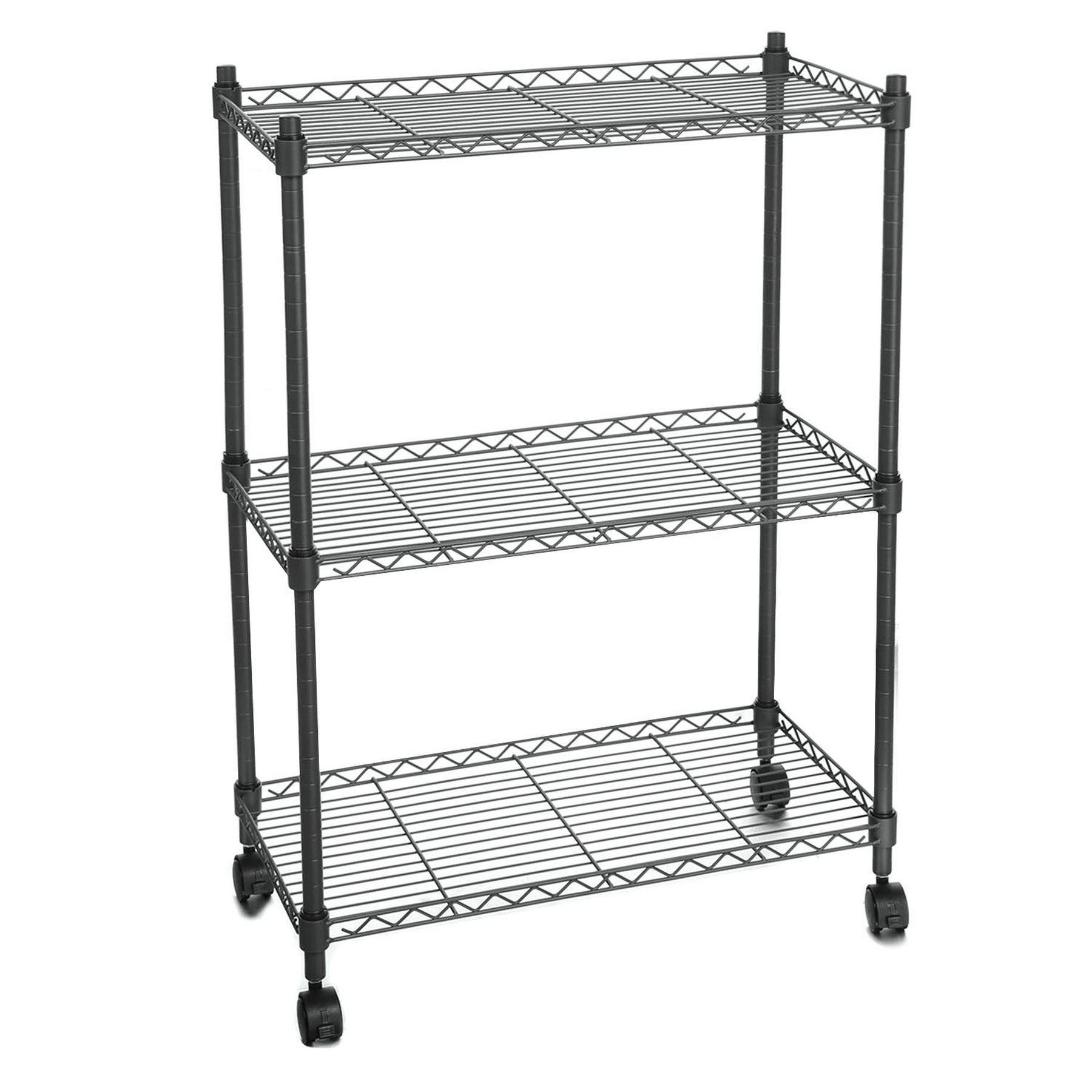 3 Tier Metal Kitchen Rack Heavy Duty Microwave Oven Stand Storage Cart CCGE