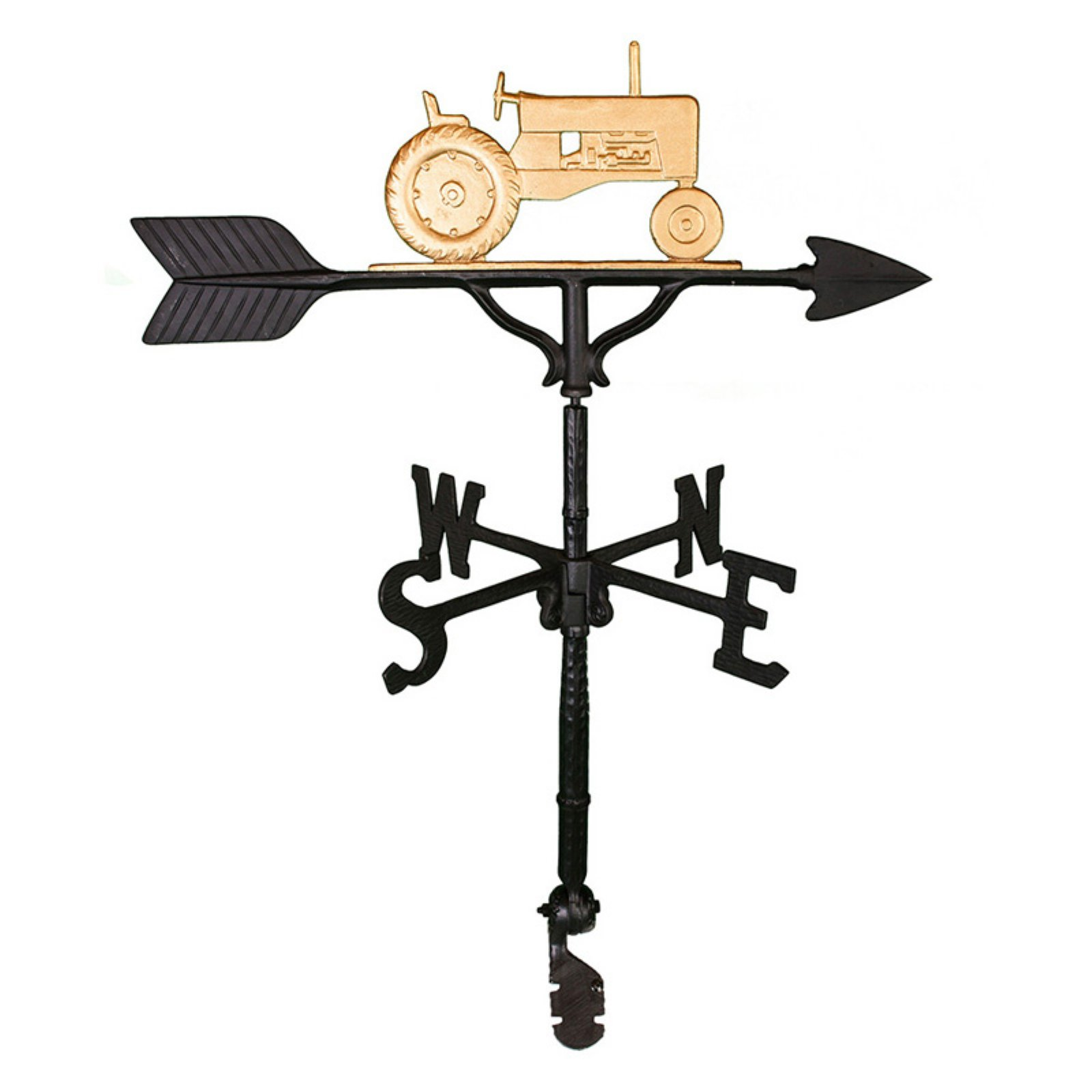 Gold Tractor Weathervane 32 in. by Montague Metal Products