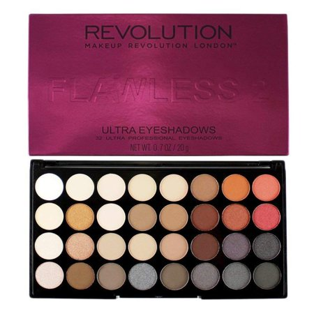 Ultra Eyeshadows Palette - FLAWLESS 2 - 32 Ultra Professional Eyeshadows, 22 Pearl & 10 Matt Shades By Makeup