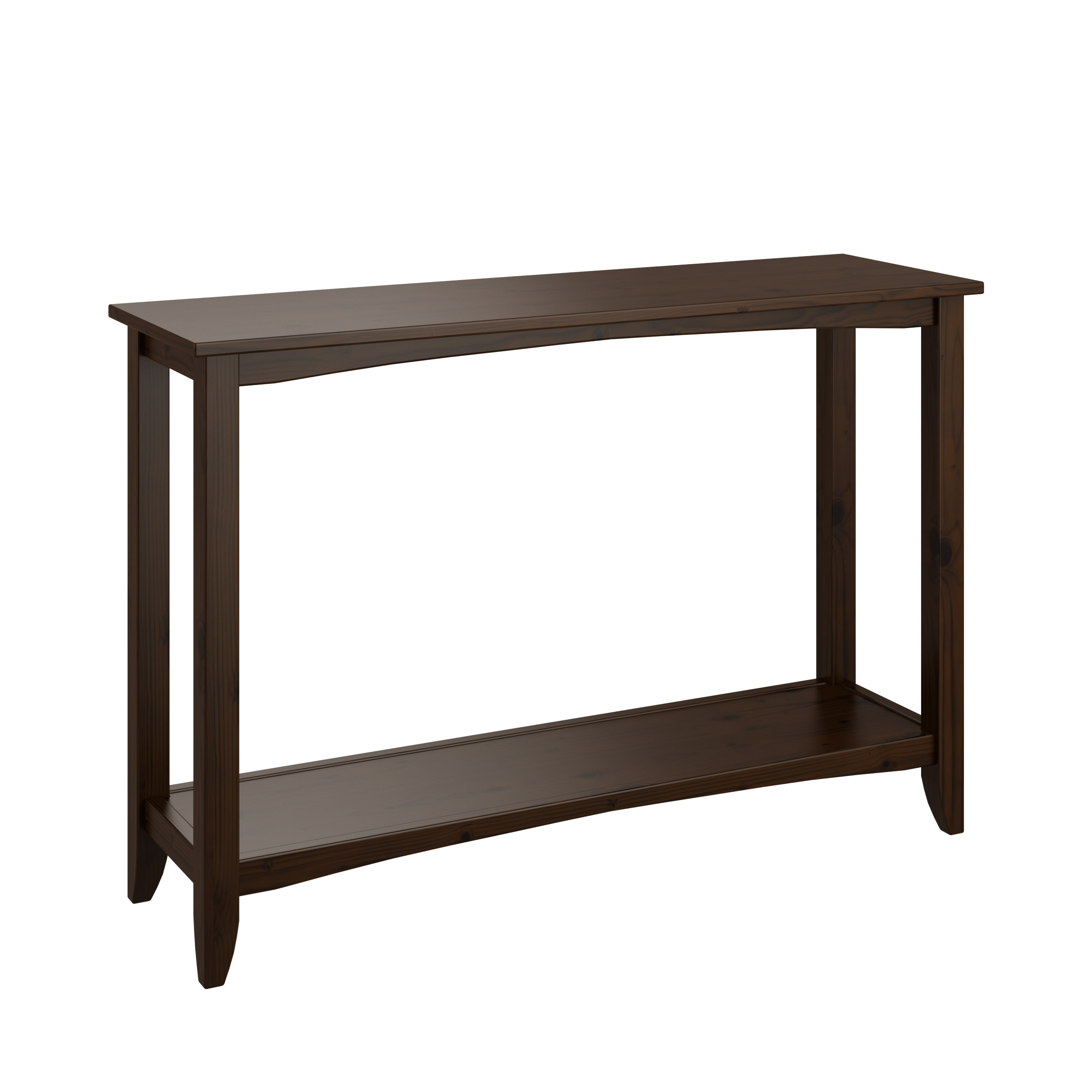 CorLiving Cambridge Solid Wood Two-Tiered Console Table