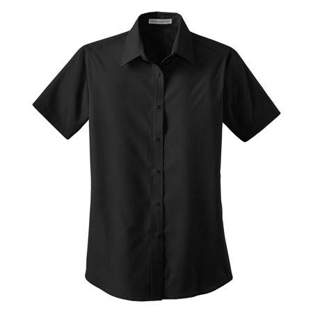 Open Collar Shirt - Port Authority Women's Short Sleeve Open Collar Shirt
