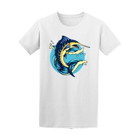 Marlin Fish With Waves  Tee Men's -Image by