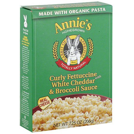 Annie 39 s curly fettuccine pasta meal with white cheddar for How to get spaghetti sauce out of a white shirt