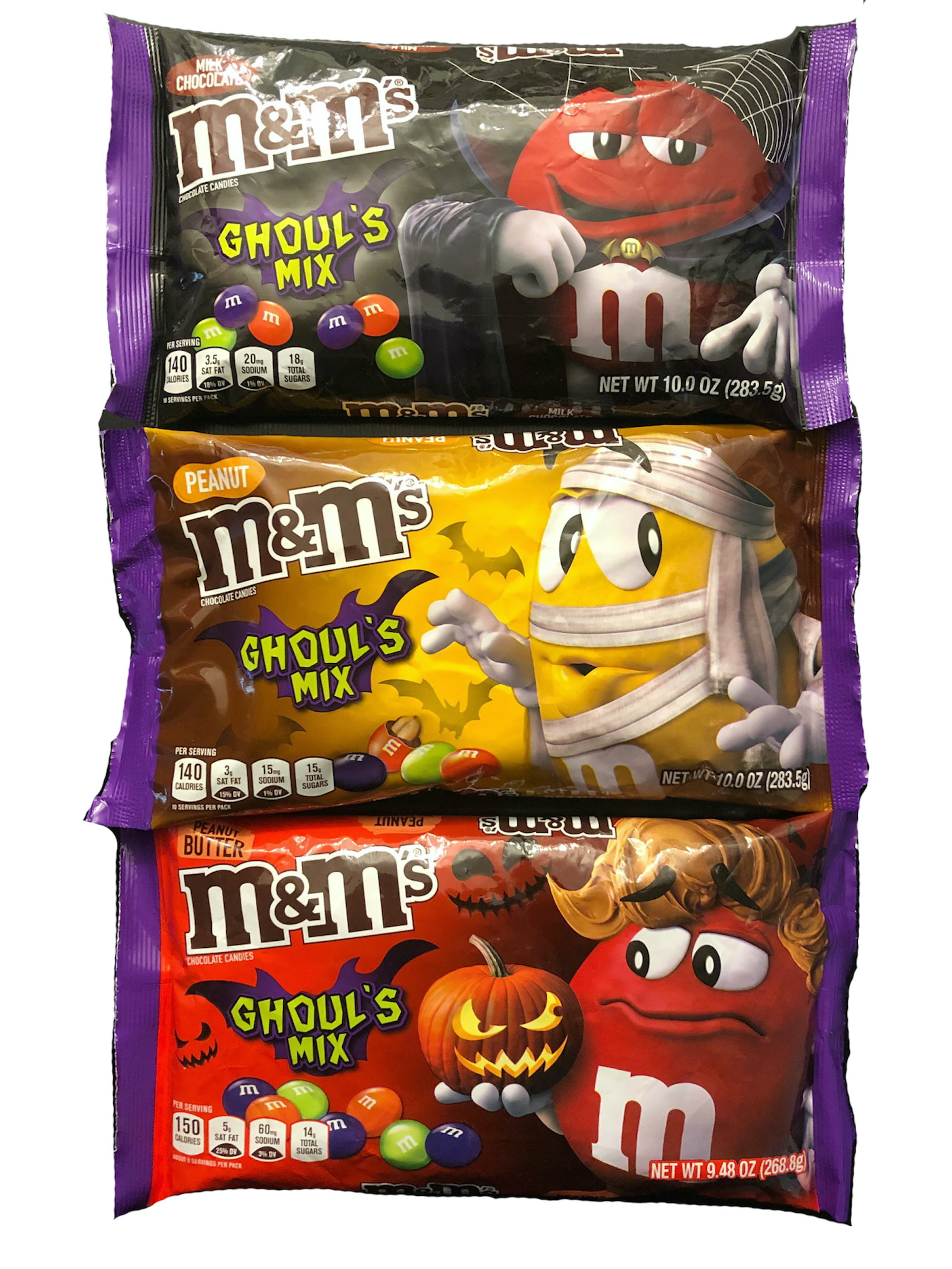 M&M's Ghoul's Mix Halloween Candy Assortment Variety Pack