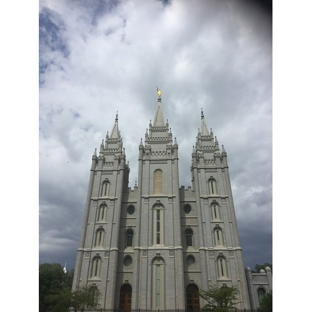 Canvas Print LDS Salt Lake City Temple Stretched Canvas 10 x 14