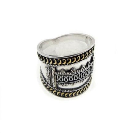 Princess Kylie 925 Sterling Silver Wavy Pattern Design Ring