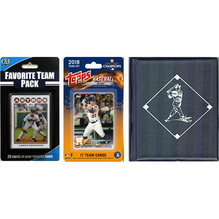 MLB Houston Astros Licensed 2018 Topps® Team Set and Favorite Player Trading Cards Plus Storage Album