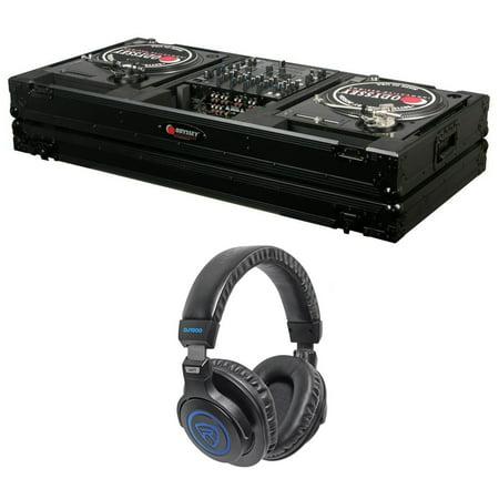 Odyssey Black Label FZBM12WBL Turntable Battle Coffin w/Wheels + Headphones