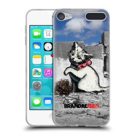 OFFICIAL BRANDALISED BANKSY TEXTURED ART SOFT GEL CASE FOR APPLE IPOD TOUCH MP3