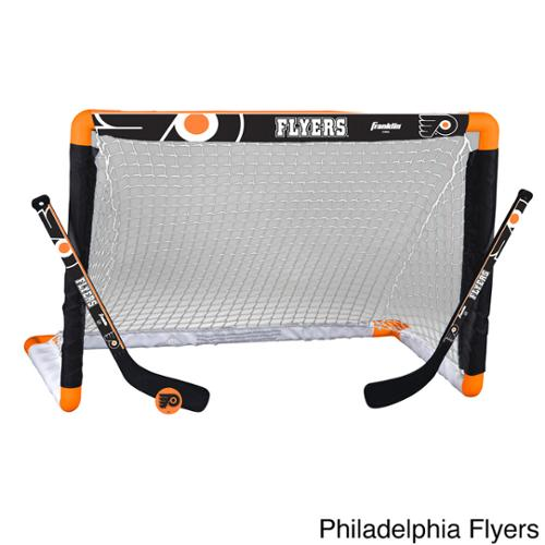 NHL Team Mini Hockey Goal, Stick and Ball Set NHL Flyers Mini Hockey Set
