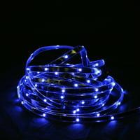 18' Blue LED Indoor/Outdoor Christmas Linear Tape Lighting - Black Finish