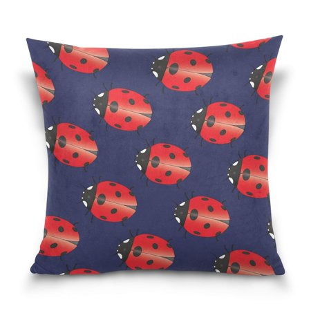 POPCreation Lady Beetle Throw Pillow Case Vintage Cushion Cover 20x20