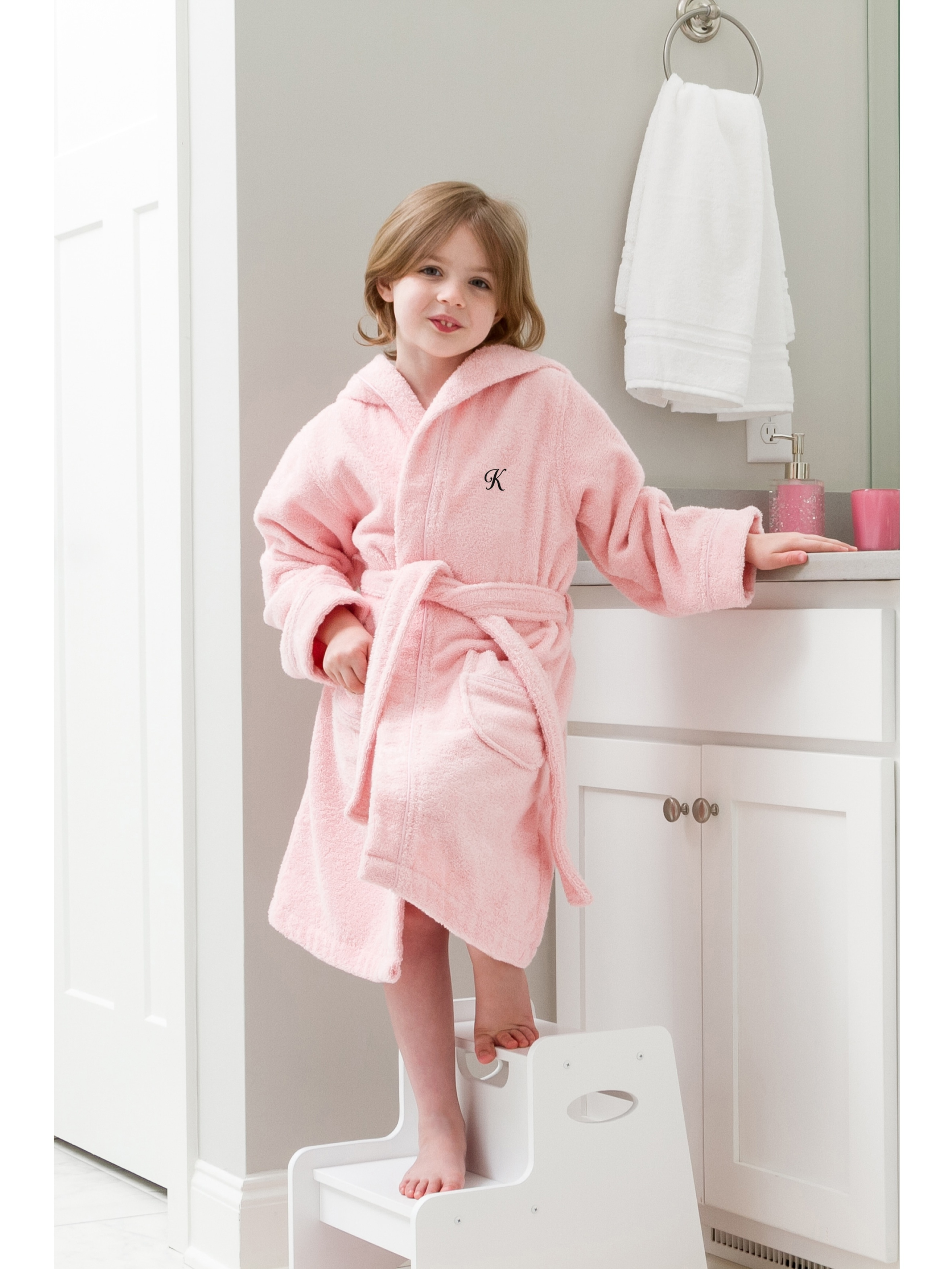 Linum Home - Linum Home Sweet Kids Turkish Cotton Terry Pink with ... ea0479f16