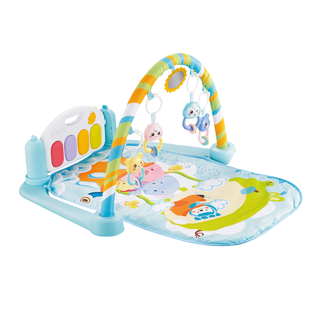Baby Activity Gym Playmat with Piano Newborn Play Gym Kick and Play Toy for Baby 1-36 Month (Light Green)