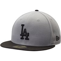 Los Angeles Dodgers New Era Two-Tone 59FIFTY Fitted Hat - Gray/Black