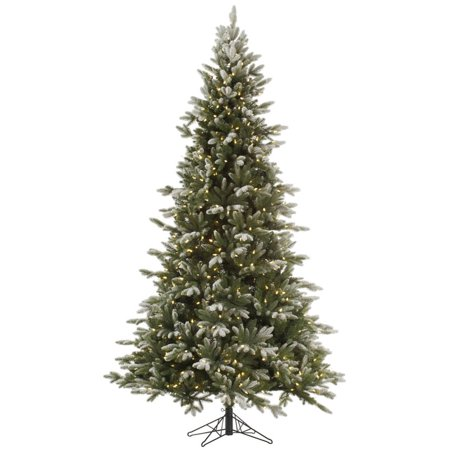 10' Pre-Lit Balsam Fir Medium Artificial Christmas Tree - Warm Clear LED Lights