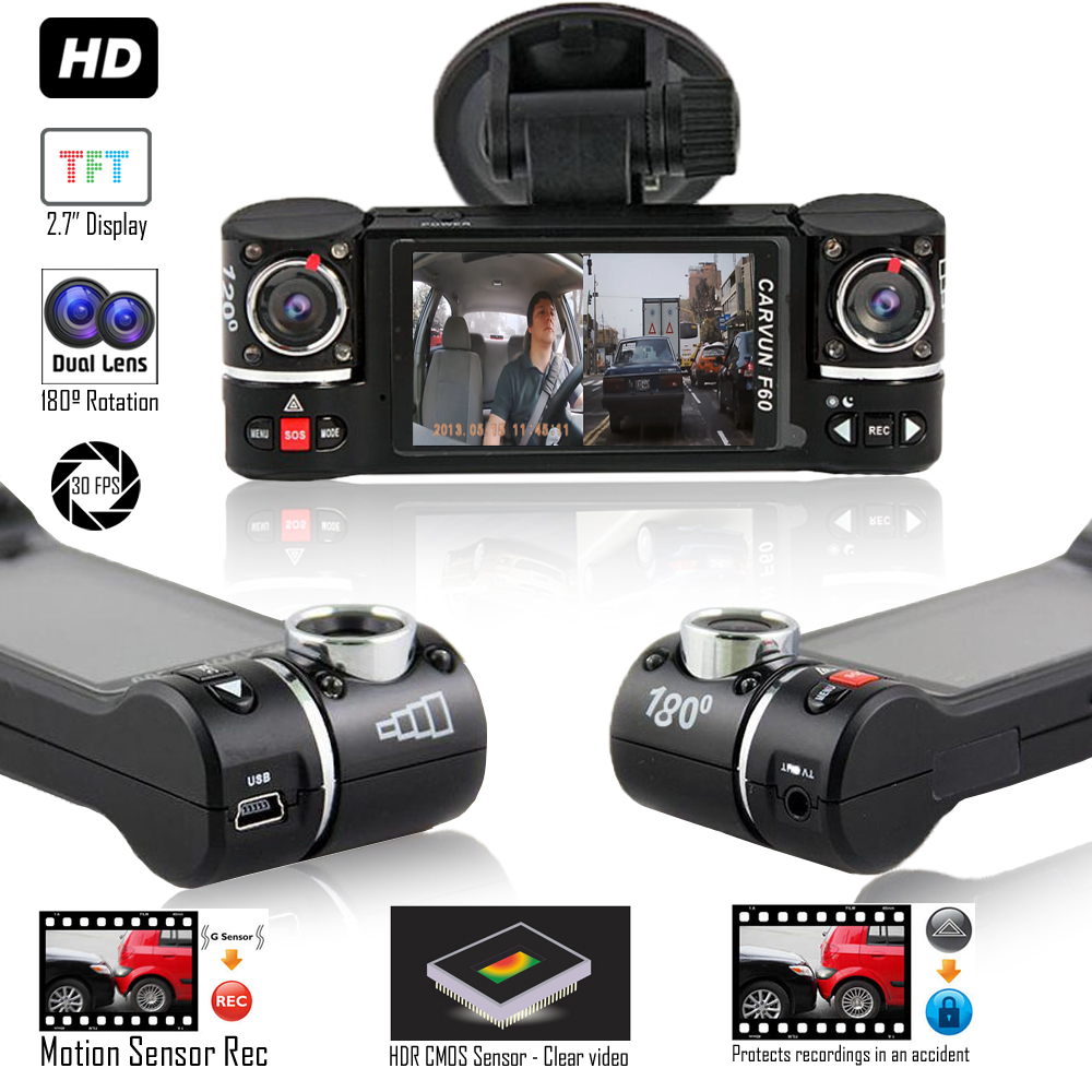 """""""Indigi NEW 2017 2.7"""""""" LCD Wide Angle Dash Cam DVR + 2.7"""""""" LCD + Motion Detect"""""""