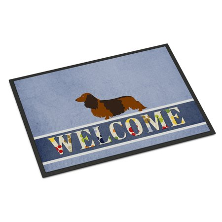 Longhaired Dachshund Welcome Door Mat ()