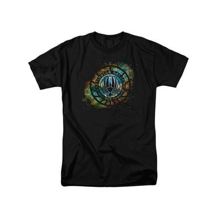 - Battlestar Galactica TV Series Starburst Galaxy Emblem Adult T-Shirt Tee