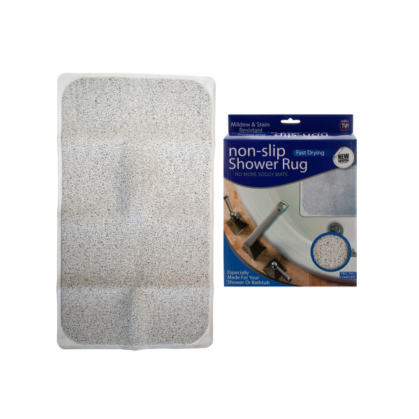 Fast Drying Non-Slip Shower Rug (Pack Of 1)